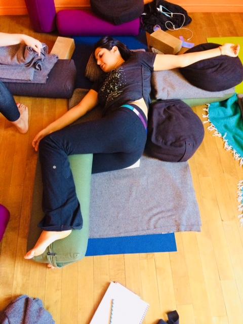 yoga twist pose for fatigue