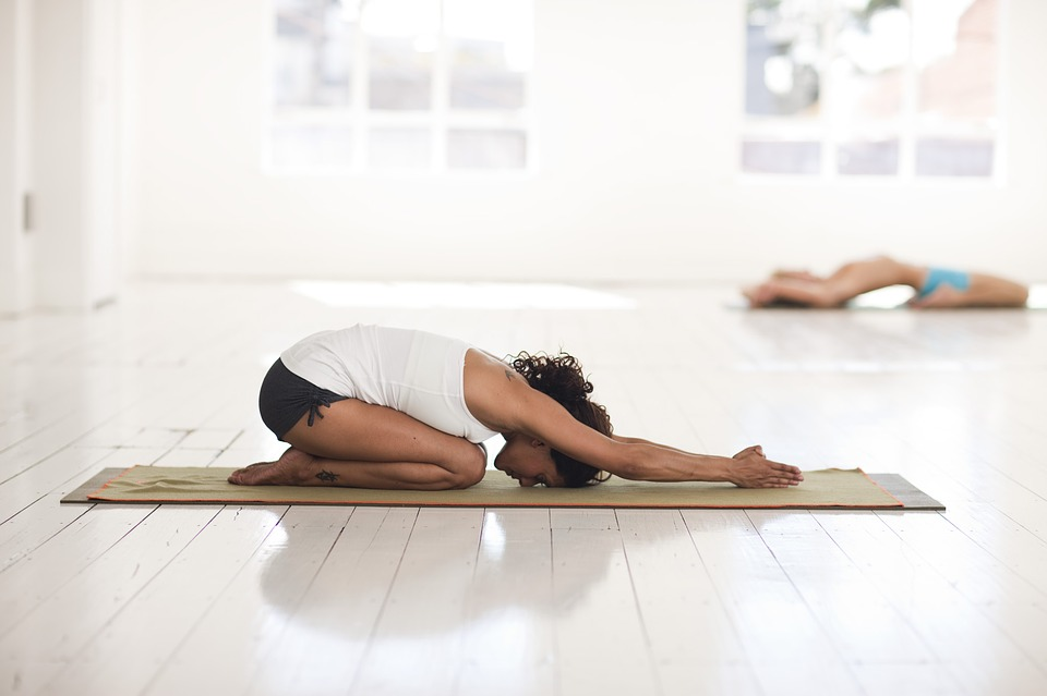 child's pose for fatigue