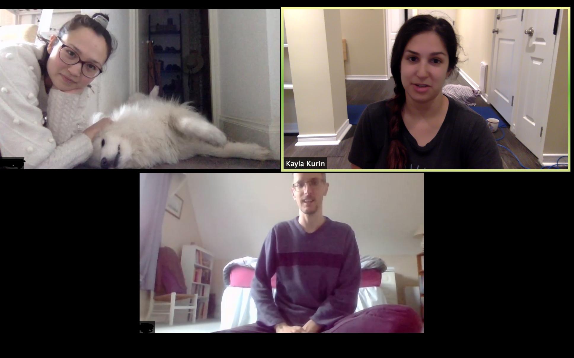 Online yoga pets