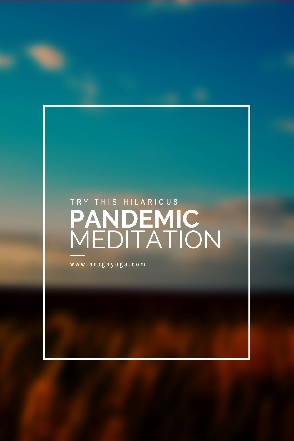 Funny pandemic meditation
